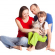 Royalty-Free Stock Photo: Family with a cat