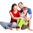 Stock Photo: Family with a cat