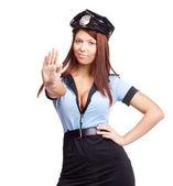 Sexy policewoman — Stock Photo