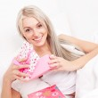 Woman with presents — Stock Photo #6215770