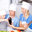 Family cooking — Stockfoto