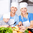 Family cooking — Stock Photo