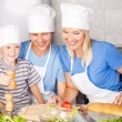Royalty-Free Stock Photo: Family cooking