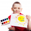 Boy with a picture — Stock Photo #6588017