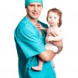 Surgeon with a baby — Stock Photo #6726144