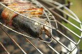 Trout on grill. — Stock Photo