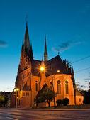 Iglesia de la guarnición de santa catalina en torun, polonia. — Foto de Stock