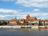 Panorama of Torun, Poland. — Stock Photo