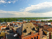 Panorama of Torun, Poland. — Stock Photo