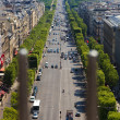 Champs Elysees in Paris, France. — Stock Photo