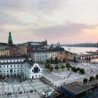 Stockholm, vaste panorama de Suède au coucher du soleil — Photo