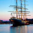 Ship at sunset, Stockholm, Sweden — Stock Photo #6443158