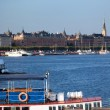 Stockholm, Sweden in Europe. Ship and architecture — Stock Photo