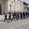 Stockholm, Sweden. A daily royal guard change. - Zdjęcie stockowe