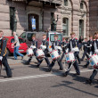 Stockholm, Sweden. A daily royal guard change. - ストック写真