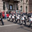 Stockholm, Sweden. A daily royal guard change. — Stock Photo