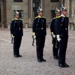 Stockholm, Sweden. A daily royal guard change. - Stock Photo