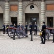 Stockholm, Sweden. A daily royal guard change. — Stock Photo #6443344