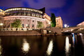 Parliament building in Stockholm, Sweden at night — Stock Photo