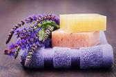 Sage soap — Stock Photo