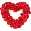 Red roses heart — Stockfoto