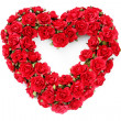 Red roses heart — Stock fotografie
