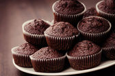 Chocolade muffins — Stockfoto