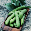 Fresh broad beans - Foto de Stock