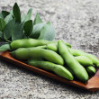 Fresh broad beans - Foto Stock