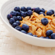 Cereals with blueberry - Stock Photo