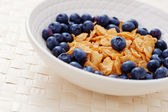 Cereals with blueberry — Fotografia Stock
