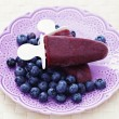 Blueberry ice cream — Foto Stock