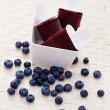 Blueberry ice cream — Foto de Stock