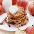 Stock Photo: Apple pancakes