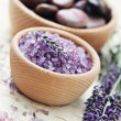 Lavender bath salt — Stock Photo #6210182