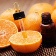 Tangerine essential oil - Stock Photo