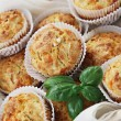 Muffins with ham and cheese — Stok fotoğraf