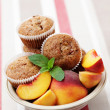 Peache's muffin - Stock Photo