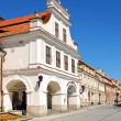 The view of Sandomierz downtown at daylight. Poland. — Stock Photo