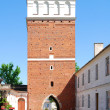 The view of Sandomierz downtown at daylight. Poland. — 图库照片