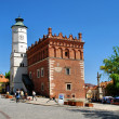 The view of Sandomierz downtown at daylight. Poland. - Foto de Stock
