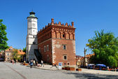 The view of Sandomierz downtown at daylight. Poland. — Стоковое фото