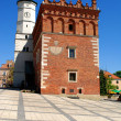 The view of Sandomierz downtown at daylight. Poland. — Stock Photo #5913391