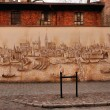 Panorama of old medieval town - Torun, Poland — Stock Photo