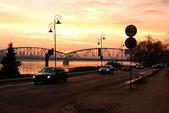 Vistula river in Torun, Poland. — Stock Photo