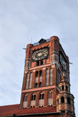 Gothic tower of town hall in Torun, Poland. — Stock Photo
