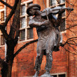 Stock Photo: Violinist monument in old town in Torun