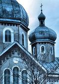 Antiga igreja ortodoxa somwhere na ucrânia — Foto Stock