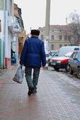 Vista de la ciudad de mosciska en Ucrania. — Foto de Stock