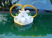結婚式車の装飾 — ストック写真